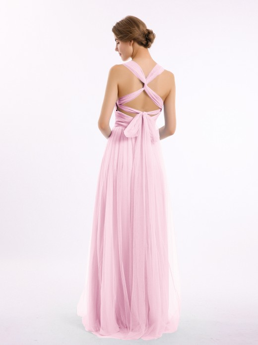 Babaroni Evelyn Convertible Dos Longueur Au Sol Tulle Robes