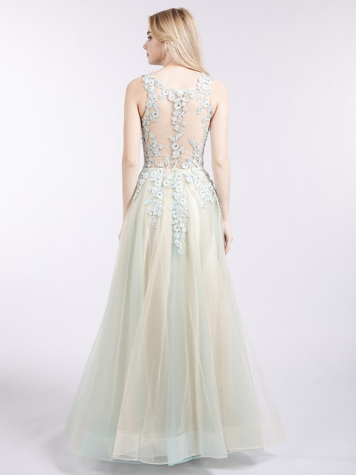 Babaroni Phoebe Col d'Illusion Deux Couleurs Tulle Robe